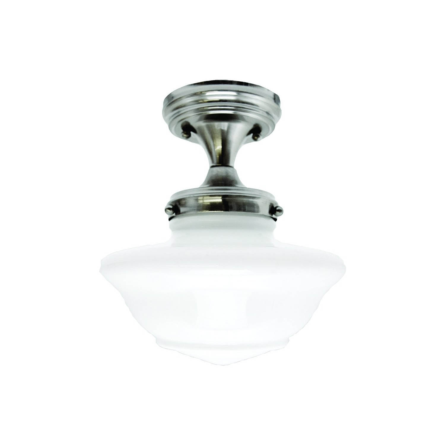 Design House Schoolhouse Ceiling Mount in Satin Nickel - 577494