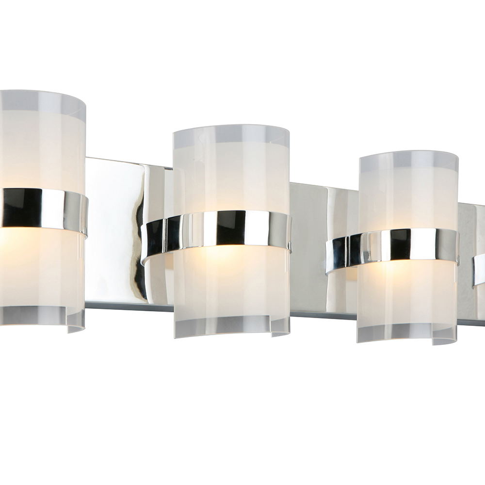 Design House Haswell 4-Light LED Wall Light, Polished Chrome - 577791