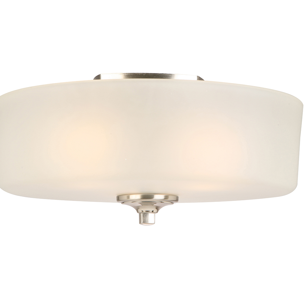 Design House Perth 3-Light Ceiling Mount Light, Satin Nickel Finish - 578377