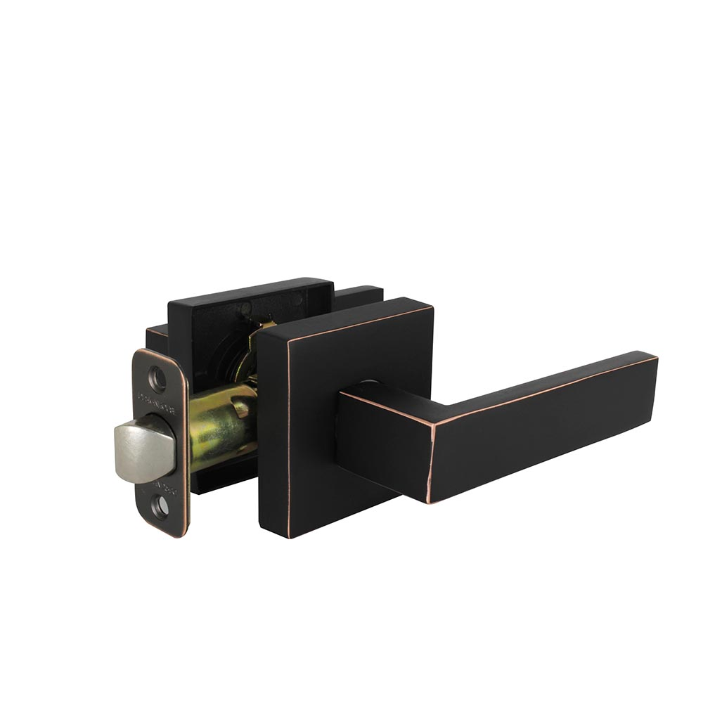 Design House Karsen Hall and Closet Door Lever, Reversible for Left or Right Handed Doors, Oil Rubbed Bronze Finish - 581058