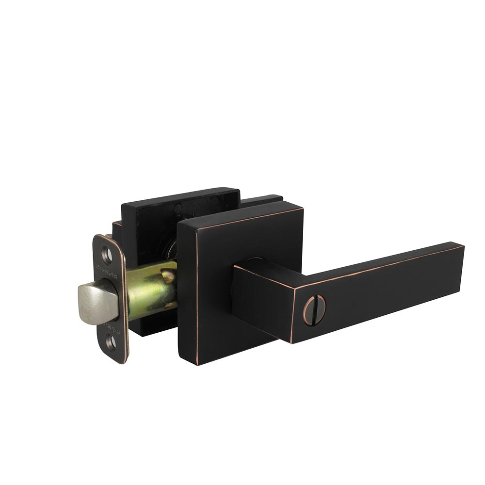 Design House Karsen Bed and Bath Lever, Reversible for Left or Right Handed Doors, Oil Rubbed Bronze Finish - 581066