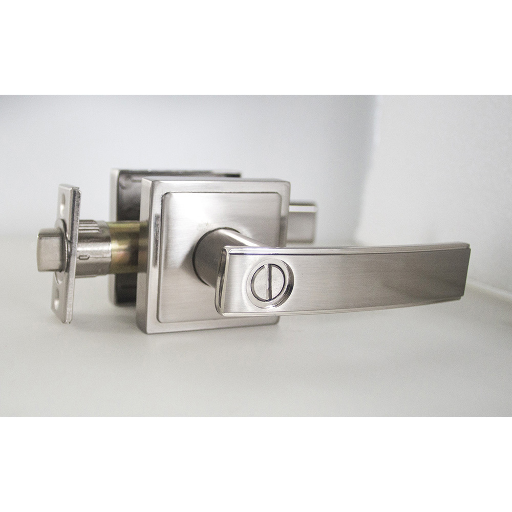 Design House Emblem Vista Bed and Bath Door Knob 2-Way Adjustable, Satin Nickel - 581793