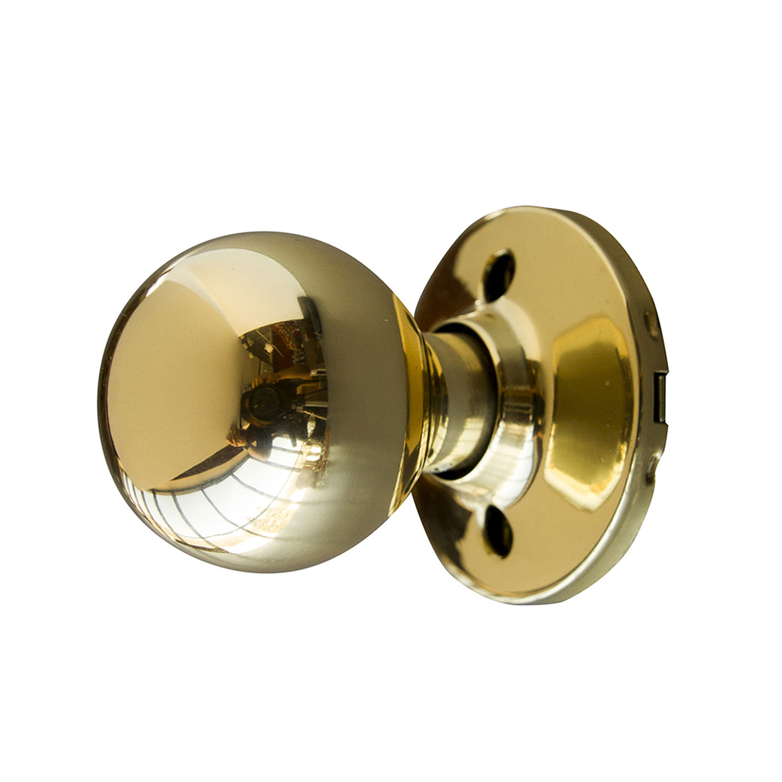 Design House Bay Dummy Door Knob, Polished Brass - 727008