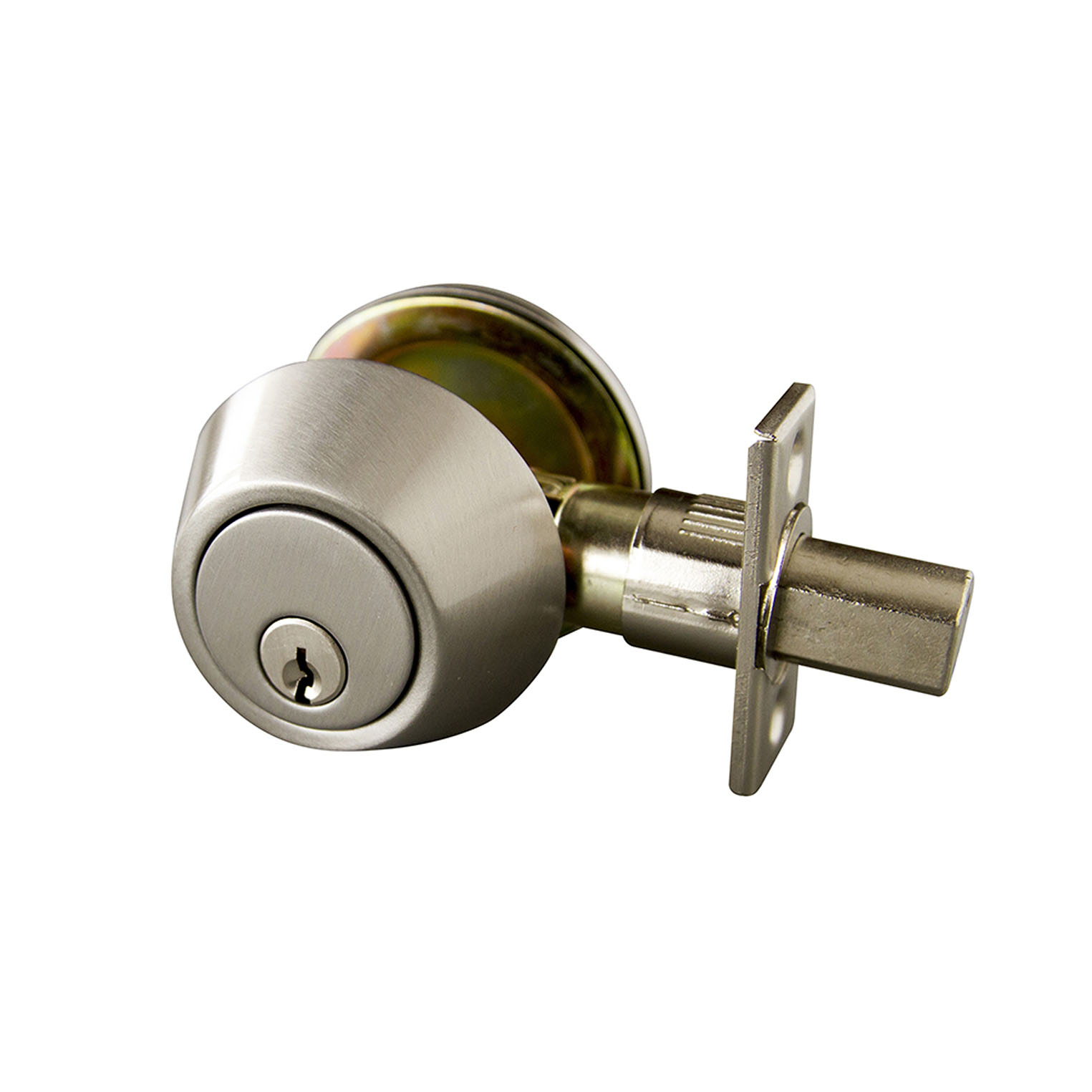 Design House 727446 Single Cylinder Deadbolt Satin Nickel