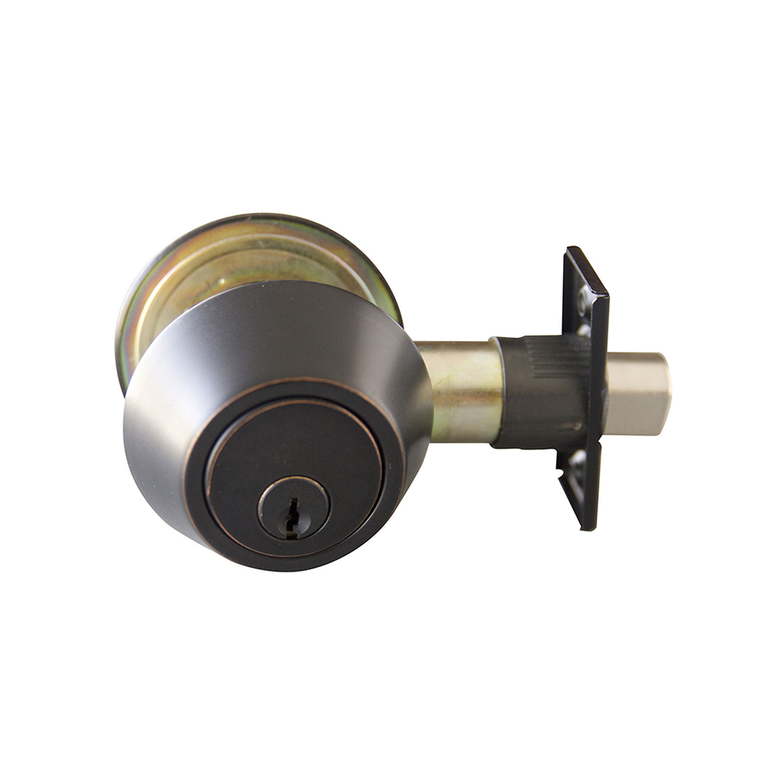 Design House Double Cylinder Deadbolt, Oil Rubbed Bronze - 727479