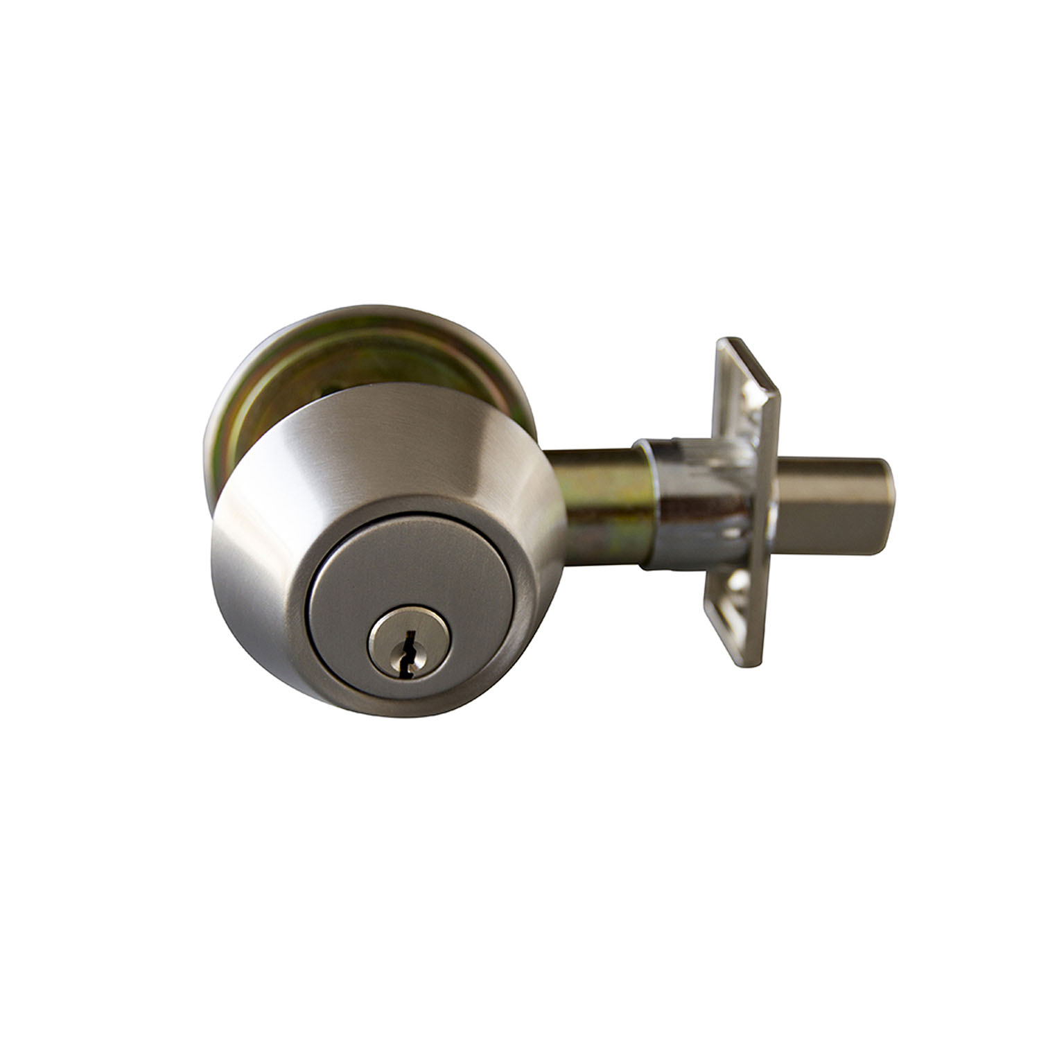 Design House Double Cylinder Deadbolt, Satin Nickel - 727495