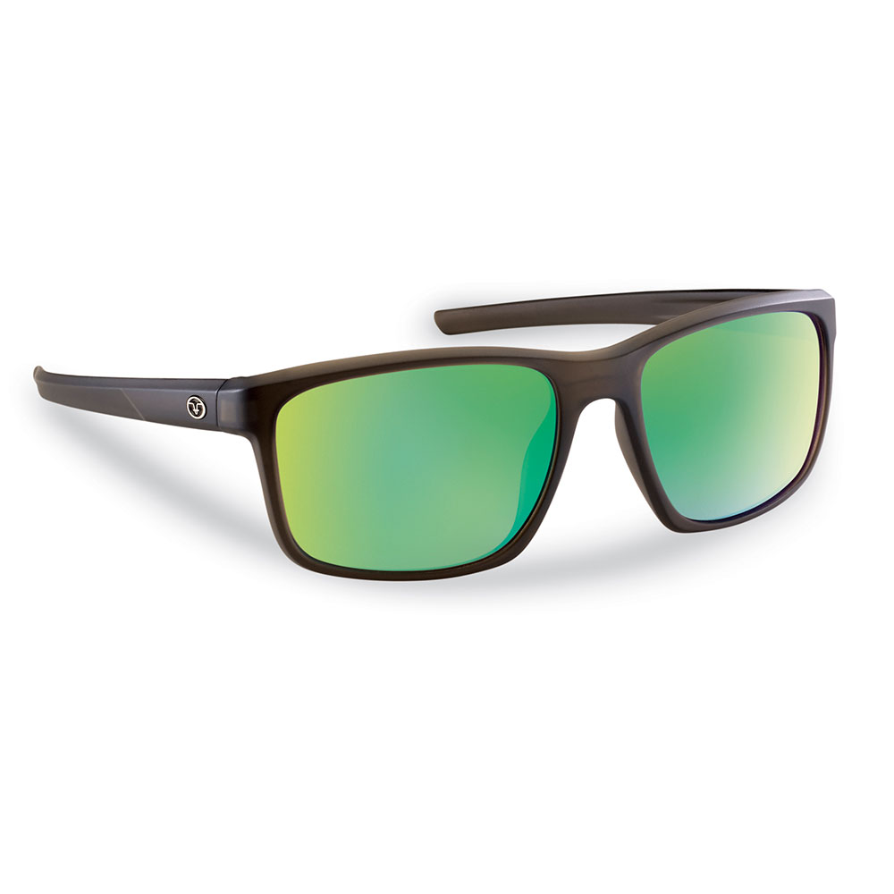 Flying Fisherman 7320CAG Rip Current Sunglasses, Brown Frames With Amber-Green Mirror Lenses