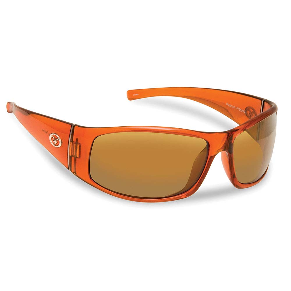 Flying Fisherman 7352RA Magnum Polarized Sunglassed, Crystal Rust Frames With Amber Lenses