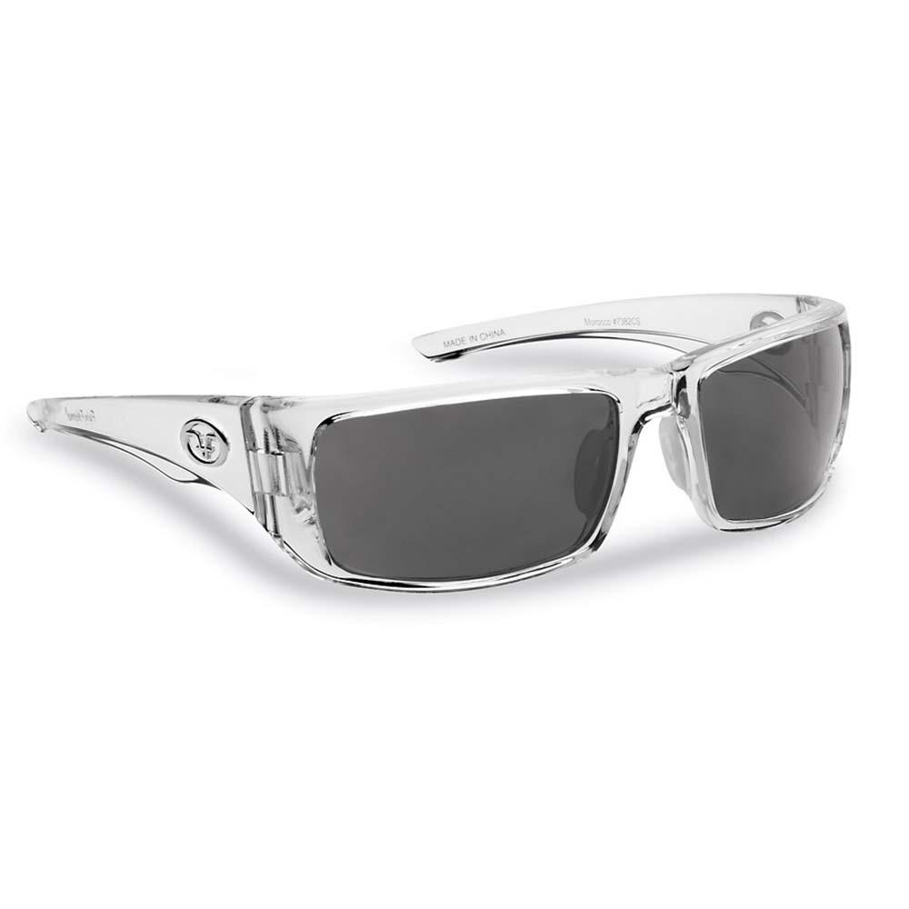 Smoke Matte Black Franes Flying Fisherman 7382BS Morocco Polarized Sunglasses