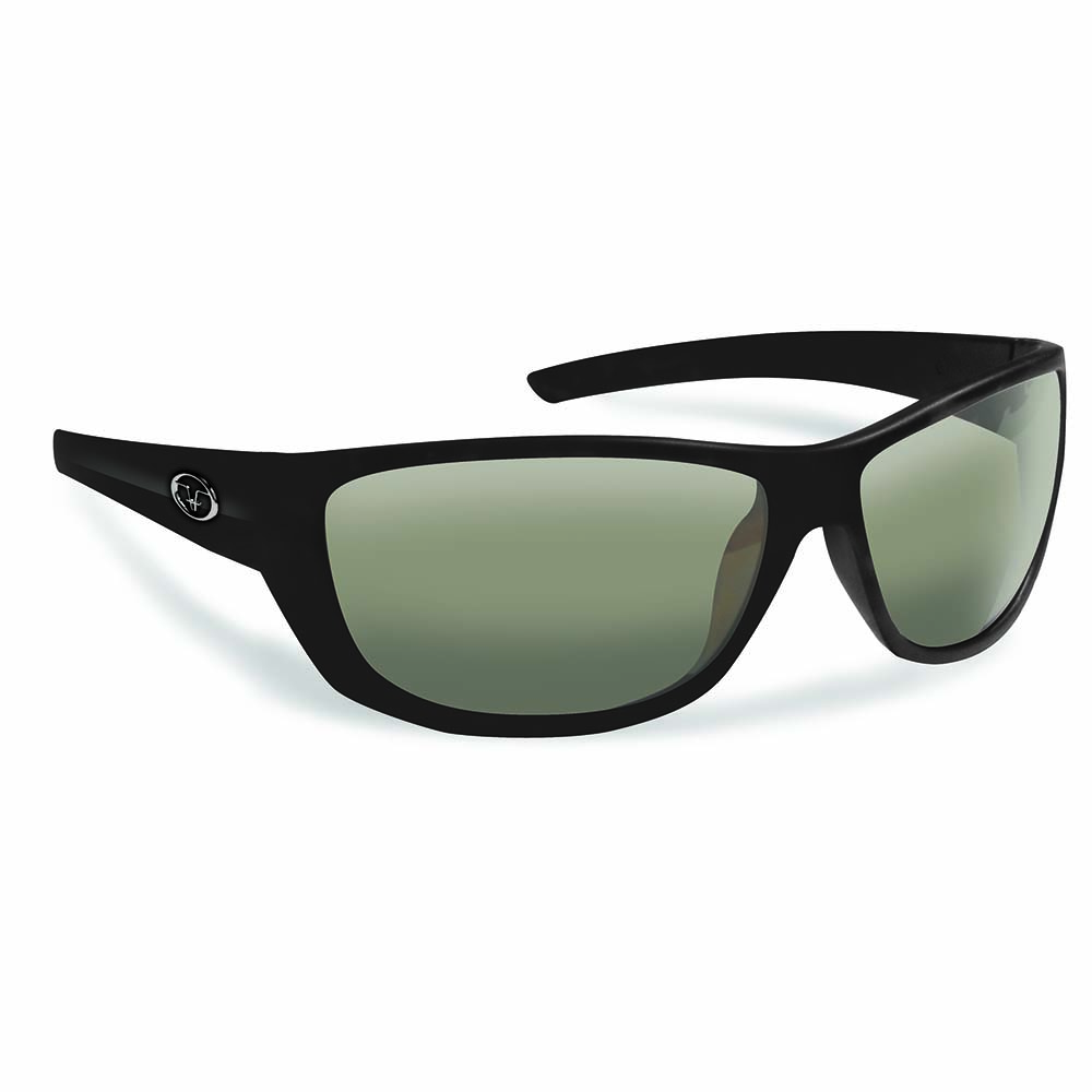 Flying Fisherman 7394BS Bahia Polarized Sunglasses, Matte Black Frames, Smoke Lenses