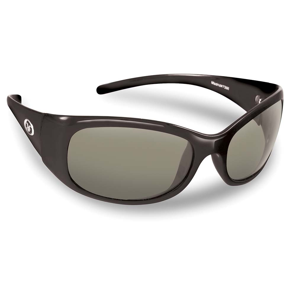 Flying Fisherman 7398BS Madrid Polarized Sunglasses, Black Frames With Smoke Lenses