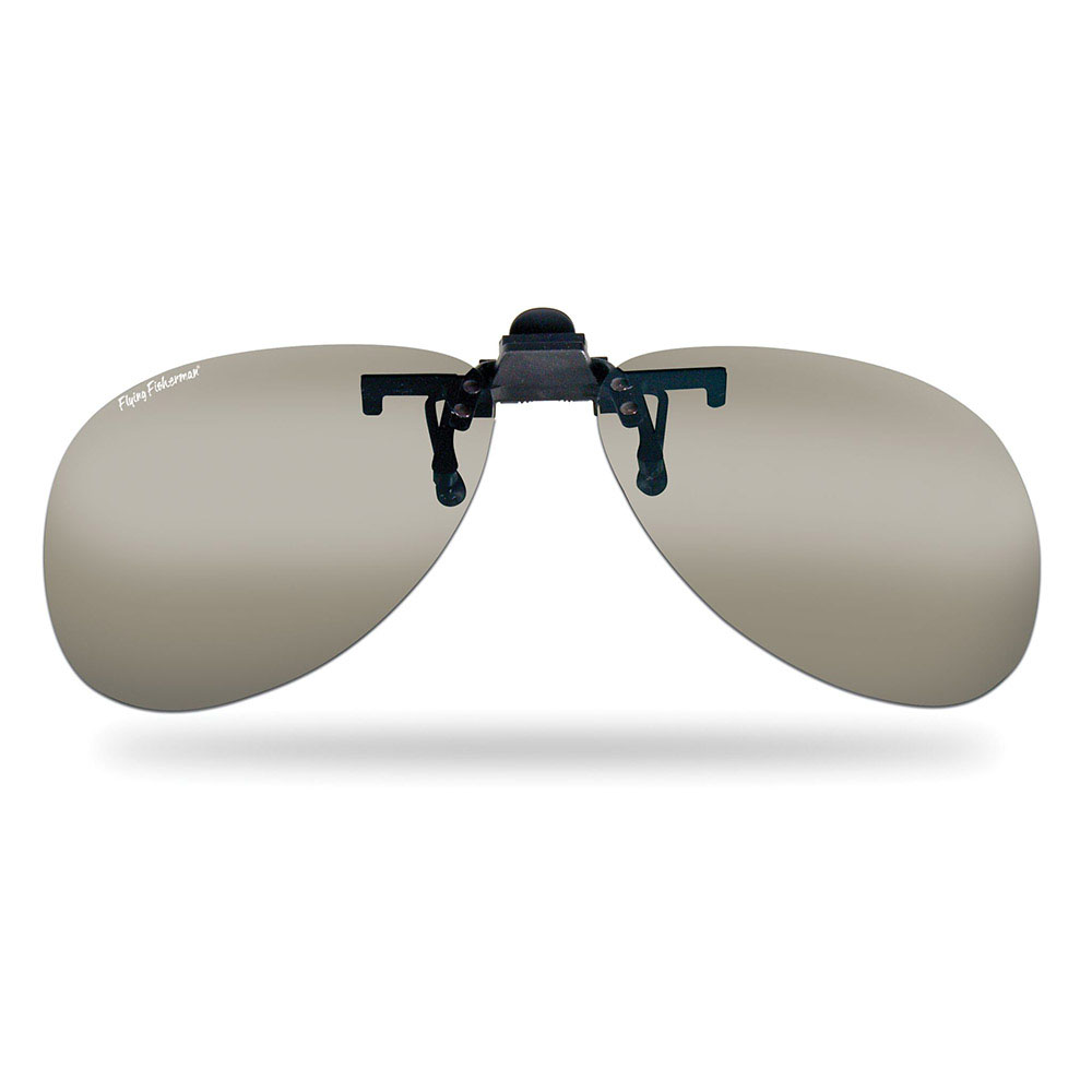 9353852240 Flying Fisherman Flip-Up Clip-On Teardrop Sunglasses can easily attach to  prescription eyewear and flip up when not needed.