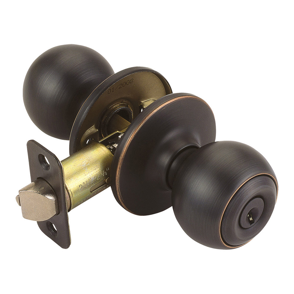 Design House Pro Ball Entry Door Knob 2-Way Adjustable Lockset, Oil Rubbed Bronze - 750687