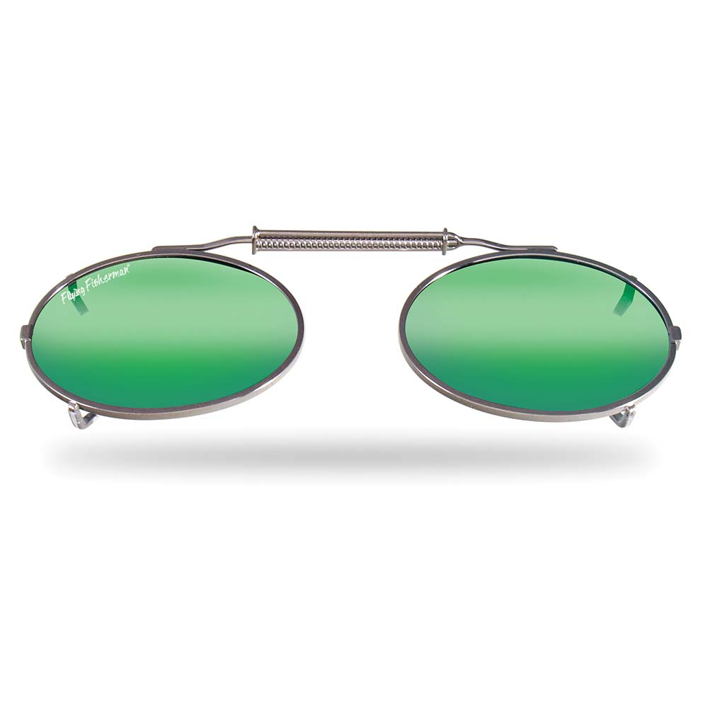 4cdcf536a8 Flying Fisherman 7507Am Clip-On Sm Oval Shape With Amber-Green Mirror Lenses