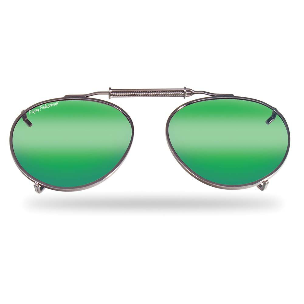 83abad24635 Flying Fisherman 7510Am Clip-On Sm Teardrop Shape With Amber-Green Mirror  Lenses