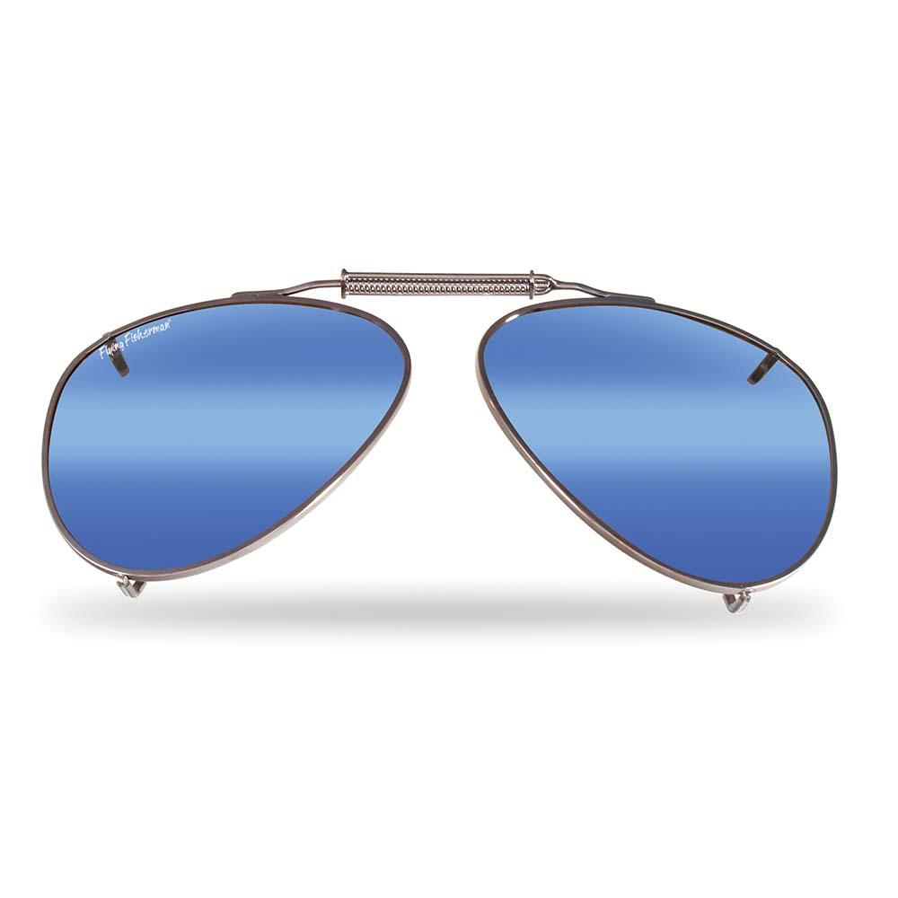 df94ca05670d5 Flying Fisherman 7511Sm Clip-On Lg Teardrop Shape With Smoke-Blue Mirror  Lenses