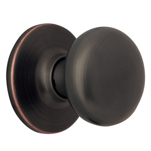 Design House Cambridge 2-Way Dummy Door Knob, Reversible for Left or Right Handed Doors, Oil Rubbed Bronze Finish - 753434