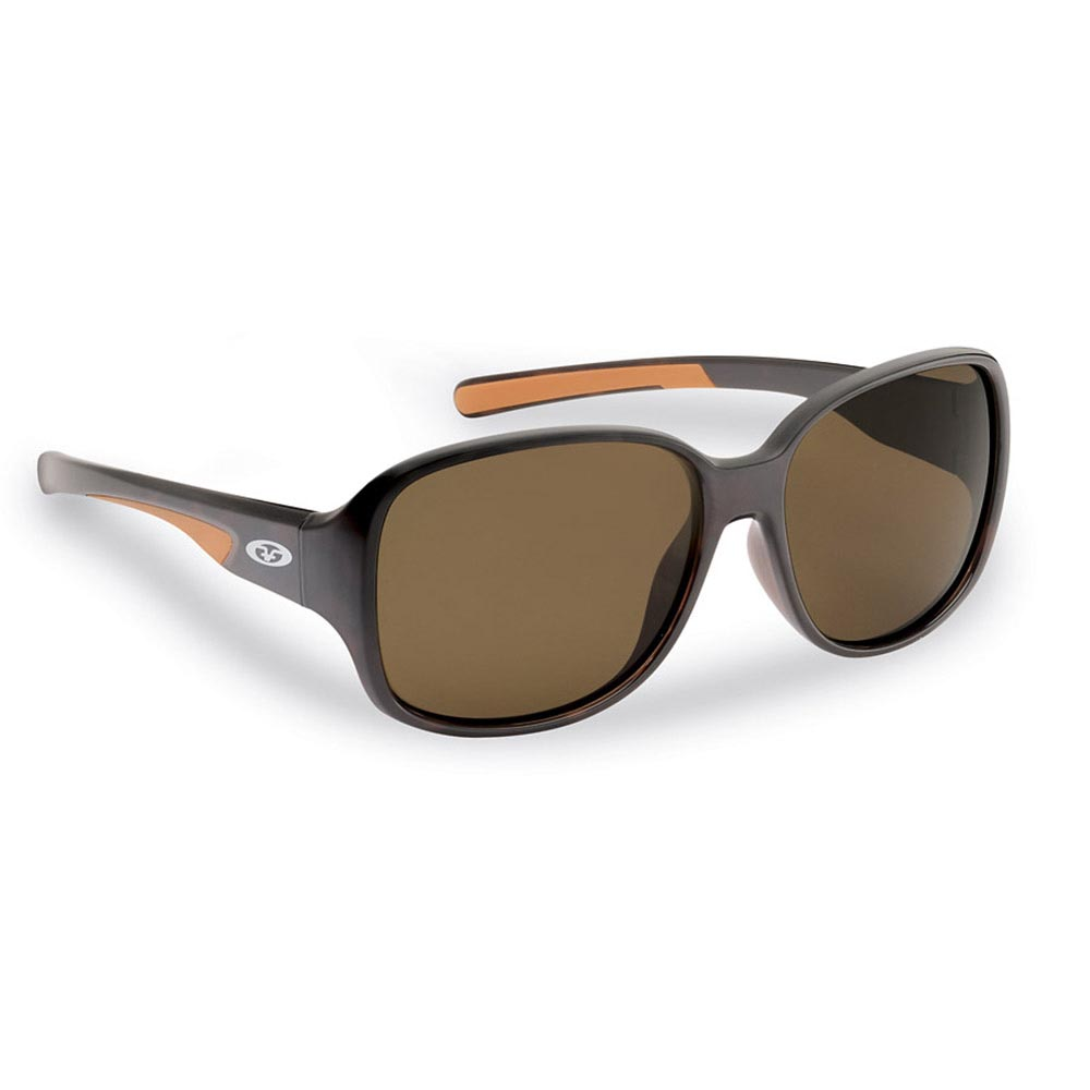Flying Fisherman 7714TA Pearl Polarized Sunglasses, Tortoise Frames, Amber Lens