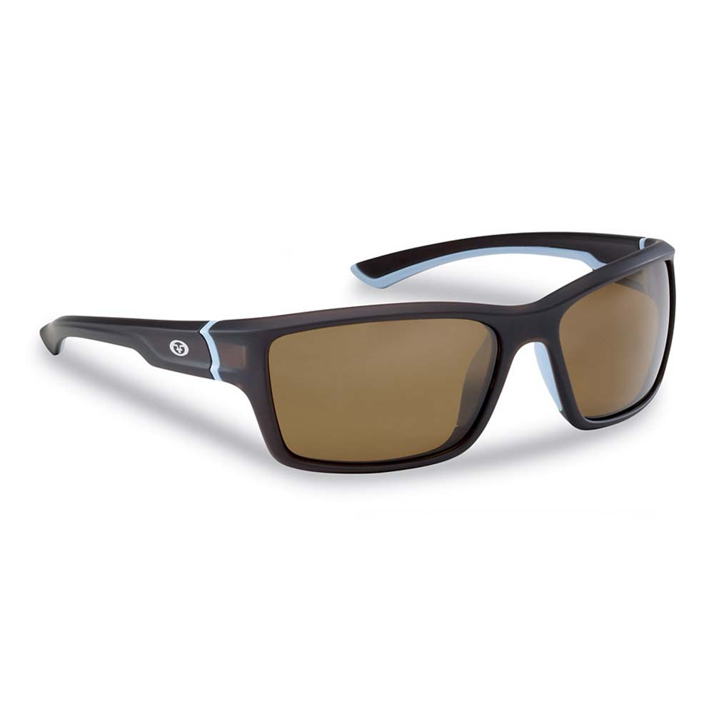 Flying Fisherman 7721TA Cove Polarized Sunglasses, Matte Crystal Tobacco Frames With Amber Lenses