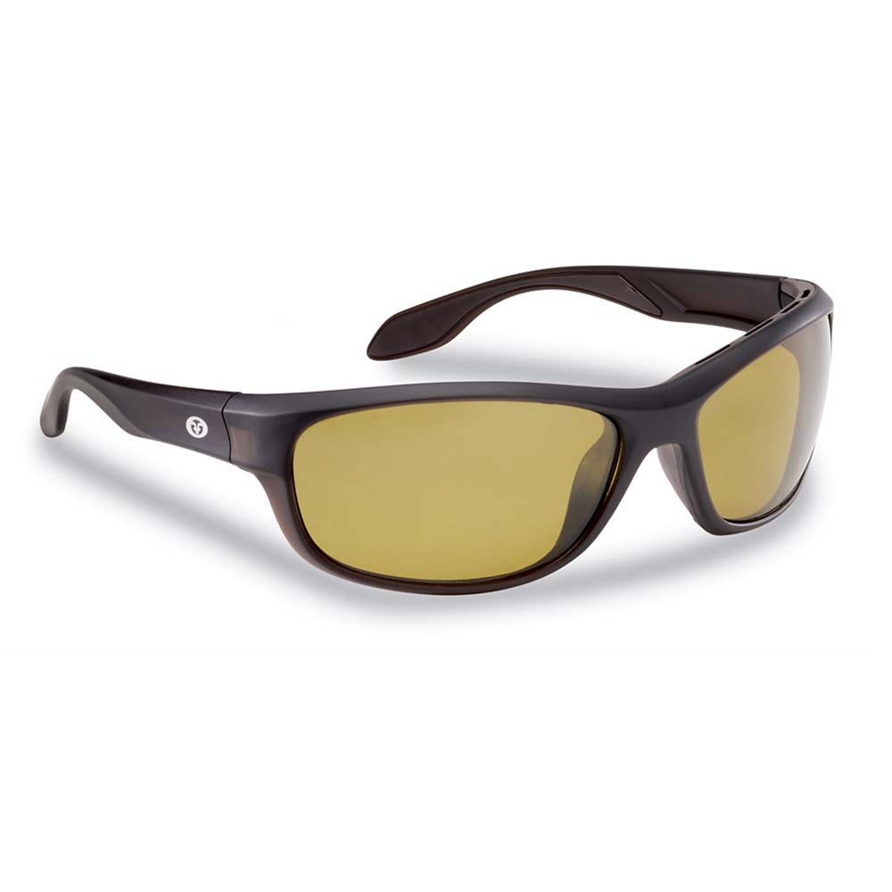 Flying Fisherman 7824BY Cayo Polarized Sunglasses, Matte Bronze Frames With Yellow-Amber Lenses