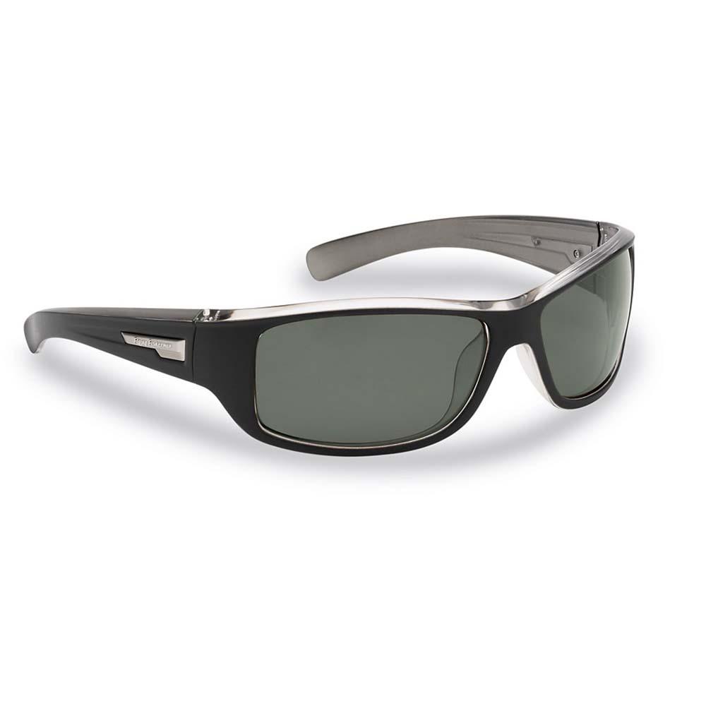 Flying Fisherman Helm Polarized Sunglasses, Black-Crystal Gunmetal ...