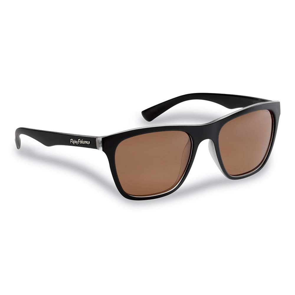 Flying Fisherman 7837BC Fowey Polarized Sunglasses, Crystal-Matte Black Frames, Copper Lenses