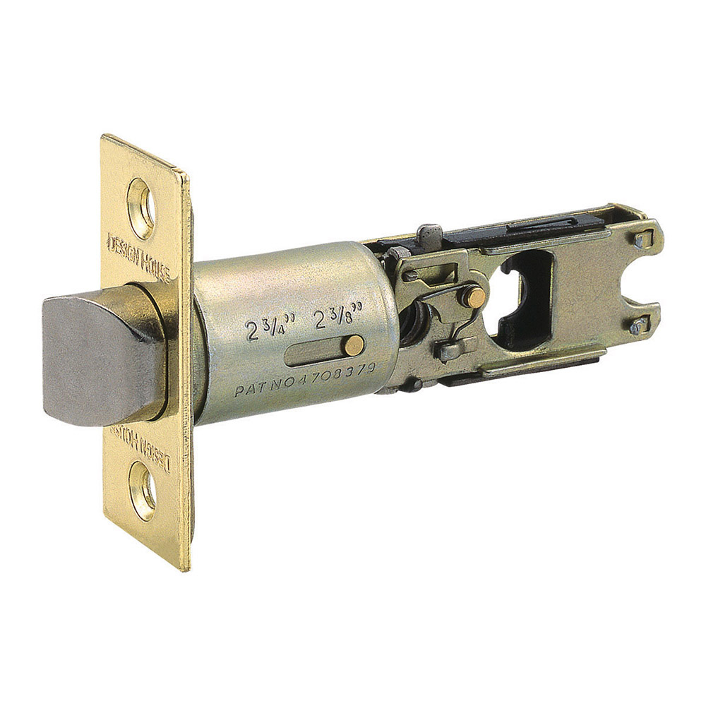 Design House Pro 2-Way Adjustable Bed and Bath Latch 2-Way Adjustable, Polished Brass - 786129