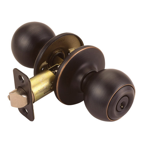 Design House Ball 2-Way Latch Entry Door Knob, Adjustable Backset, Oil Rubbed Bronze Finish - 791608