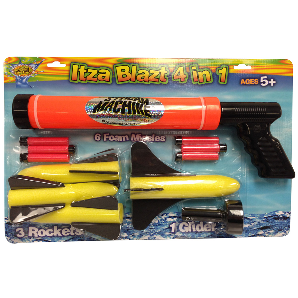 ITZABLAZT Water and Foam 4in1 Gun Combo Set, Water Sports Gun Set 80032-9