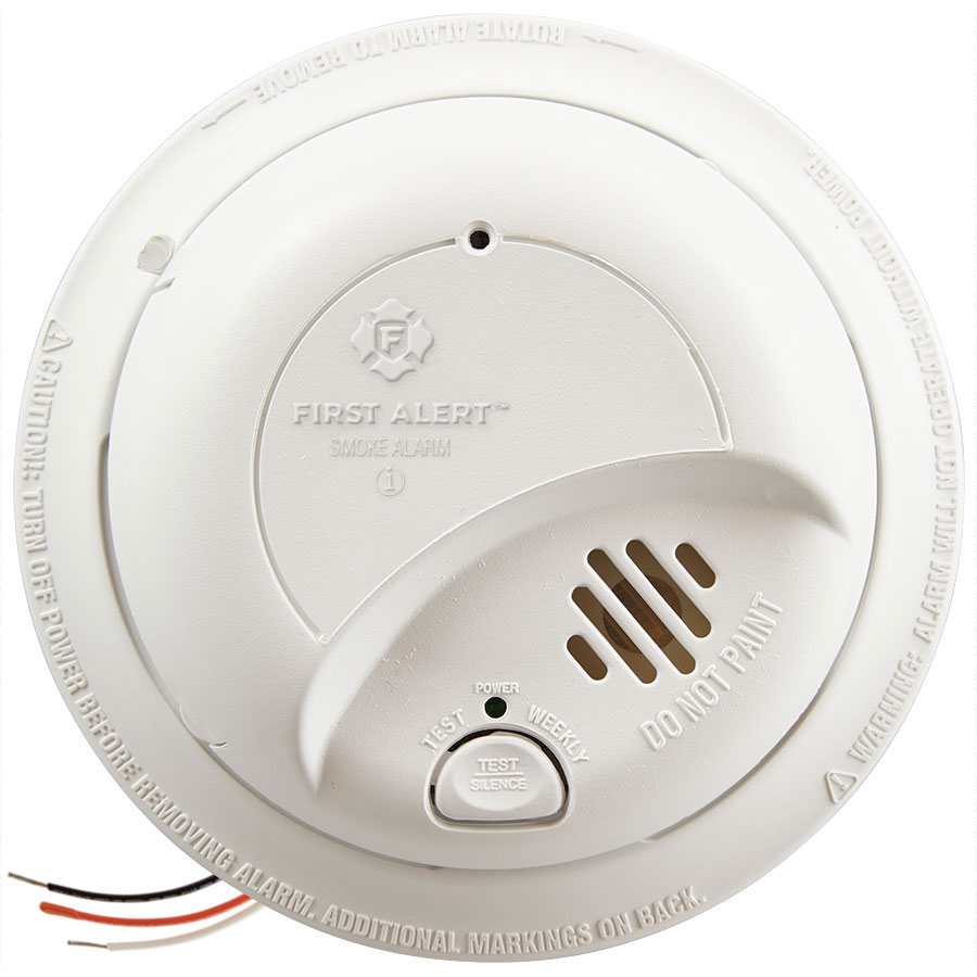 first alert 9120b hardwired smoke alarm with battery. Black Bedroom Furniture Sets. Home Design Ideas