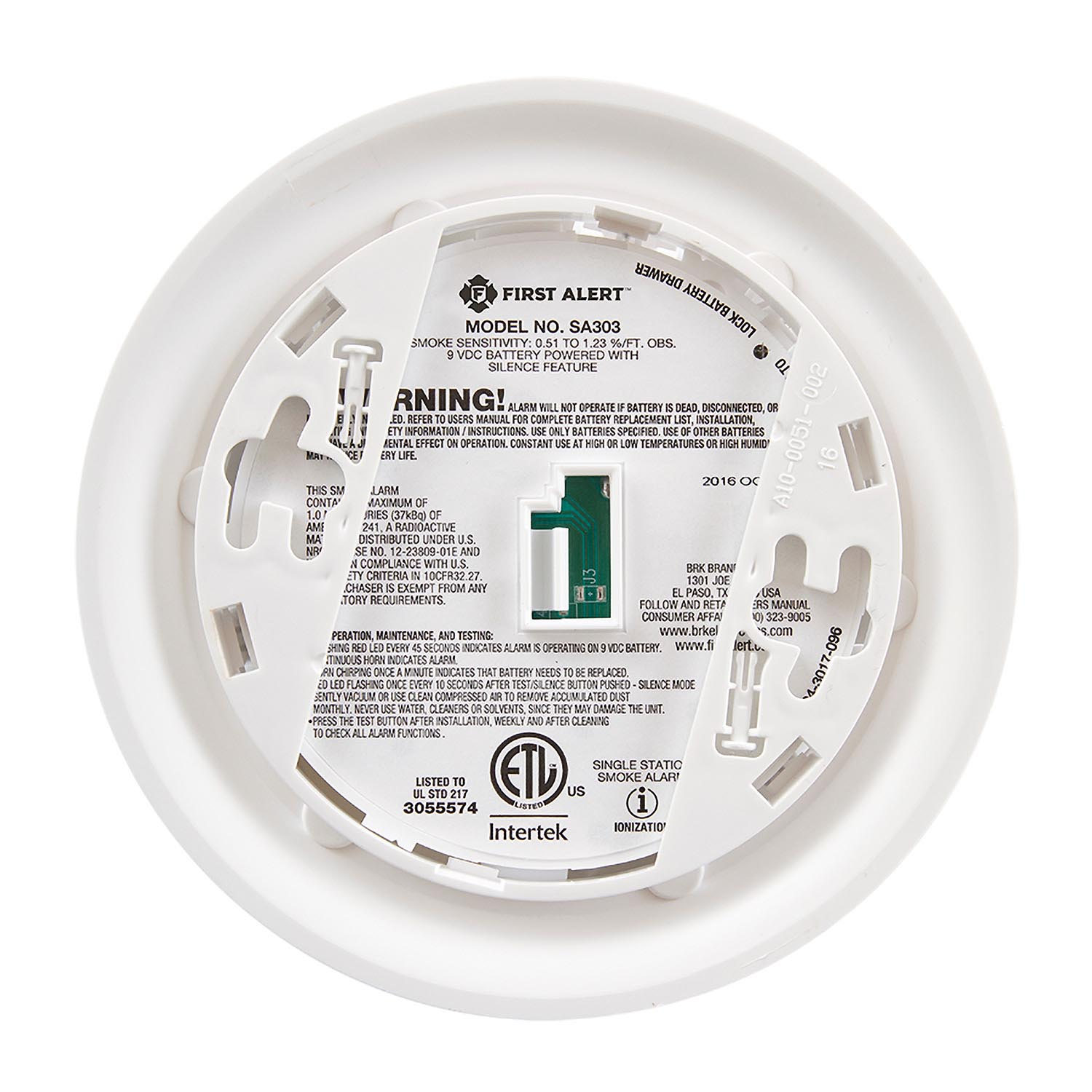 First Alert Basic Battery Operated Smoke Alarm - SA303CN3 (1039796)
