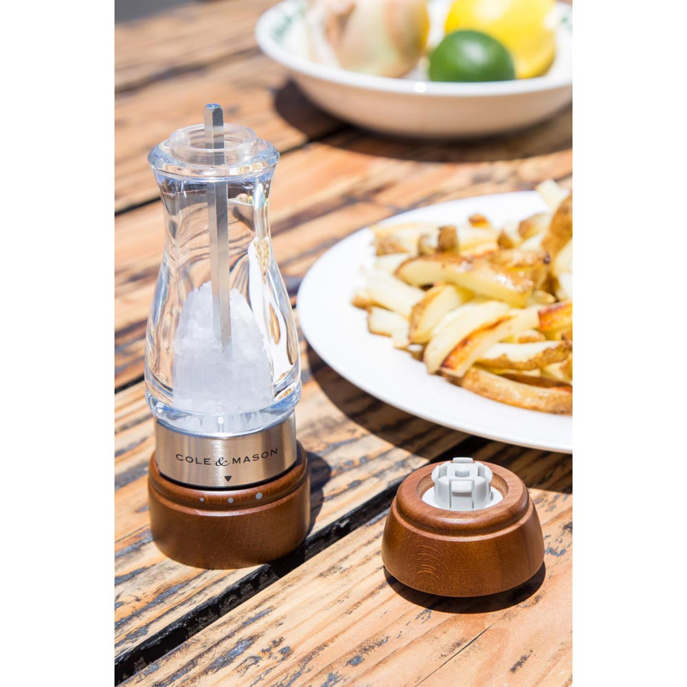 Cole & Mason Gourmet Precision Keswick Dark Wood & Acrylic Salt Mill