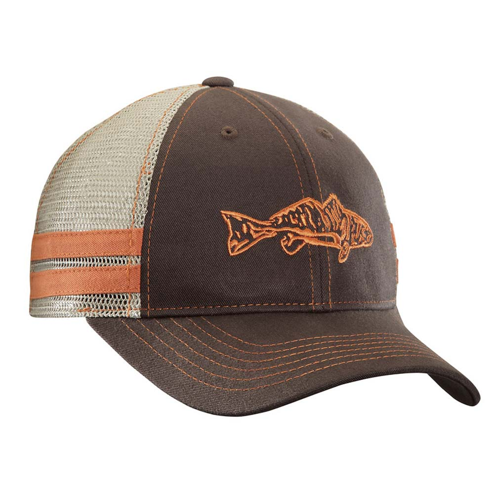 Flying Fisherman H1730 Redfish Trucker Hat Chocolate/Khaki