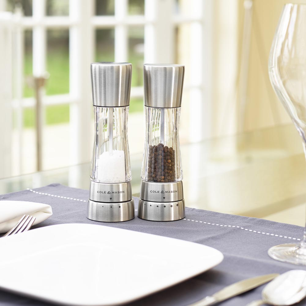 Cole & Mason Derwent Salt & Pepper Gift Set, Stainless Steel