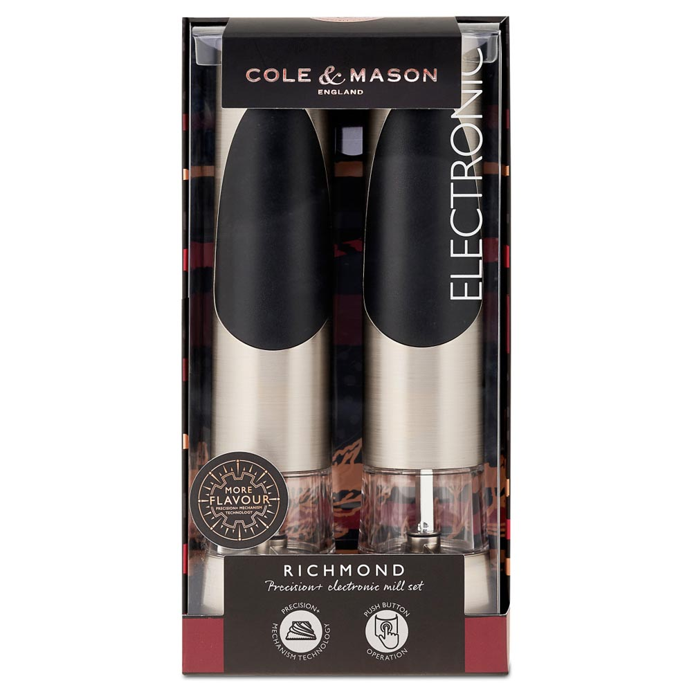 Cole & Mason Richmond Electronic Salt & Pepper Mill Gift Set