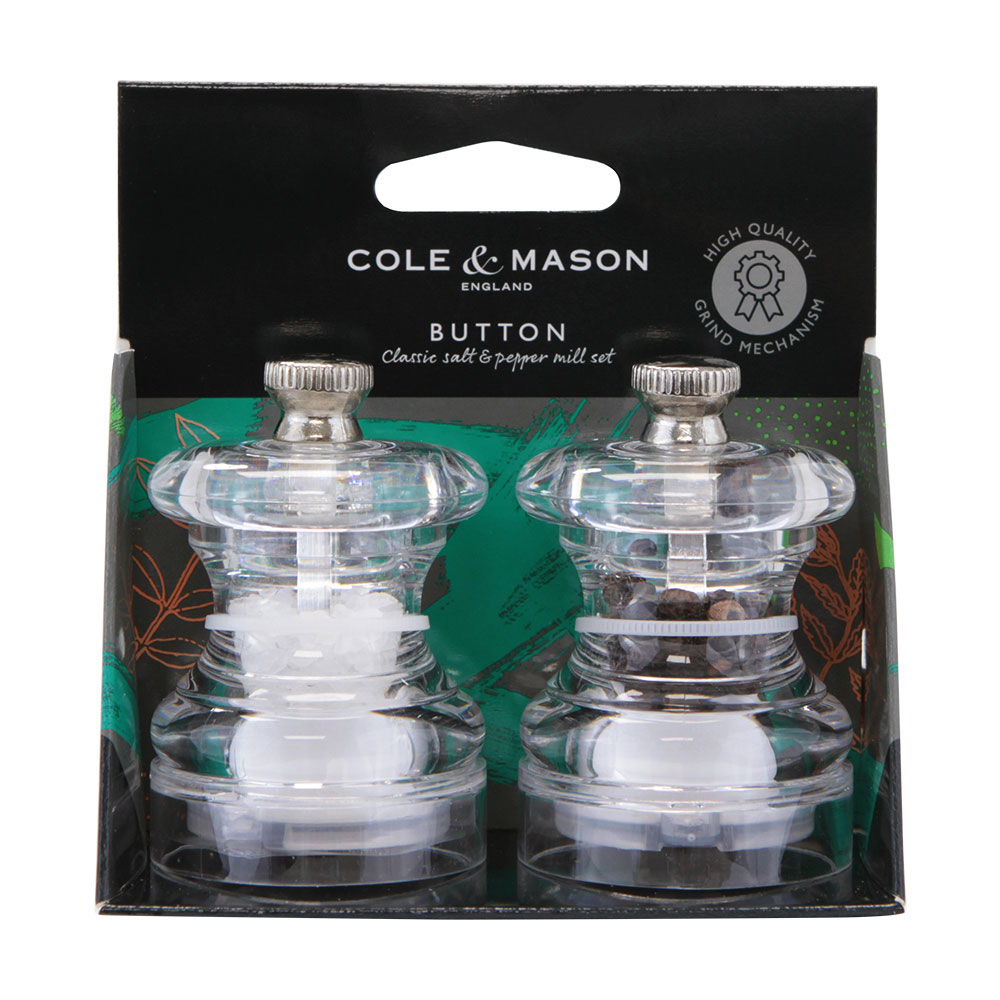 Cole & Mason Button Mini Salt & Pepper Mill Gift Set