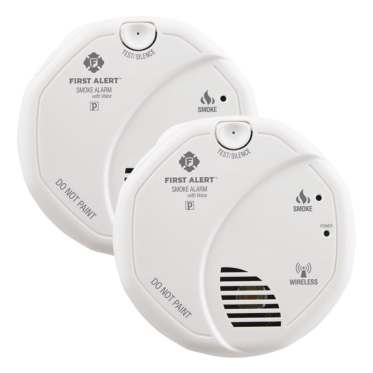 first alert sa511cn2 3st wireless interconnect battery operated smoke alarm with voice location. Black Bedroom Furniture Sets. Home Design Ideas