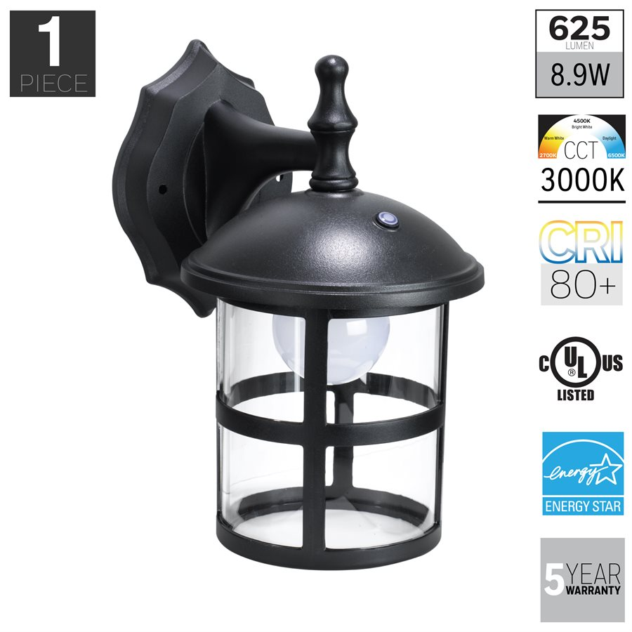 Wall Lantern Led : Honeywell SS0201-08 LED Outdoor Wall Mount Lantern Light, 3000K, 400 Lumens Great Brands Outlet