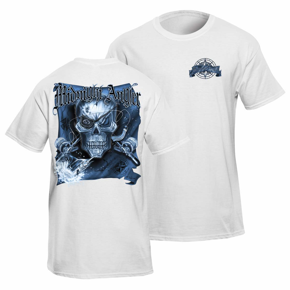 flying fisherman t1675wxxl midnight angler marlin t shirt. Black Bedroom Furniture Sets. Home Design Ideas