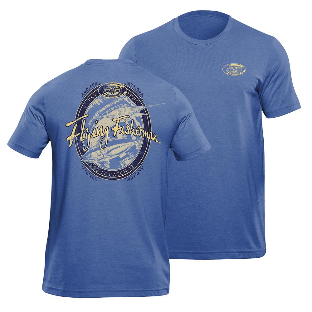 Flying Fisherman T1711RL Beer Label Tee True Royal L