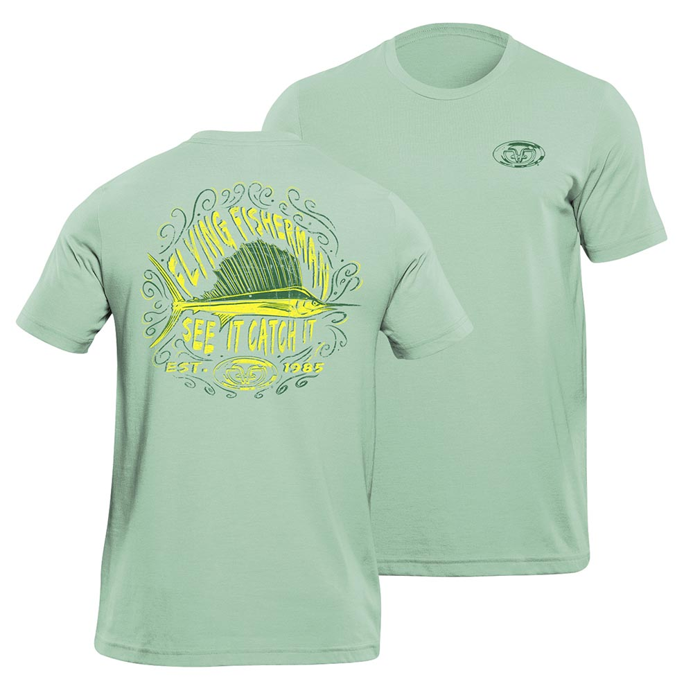 7d6504f9e Flying Fisherman T1712MXL Chalk Saifishl Tee Mint XL | Great Brands Outlet