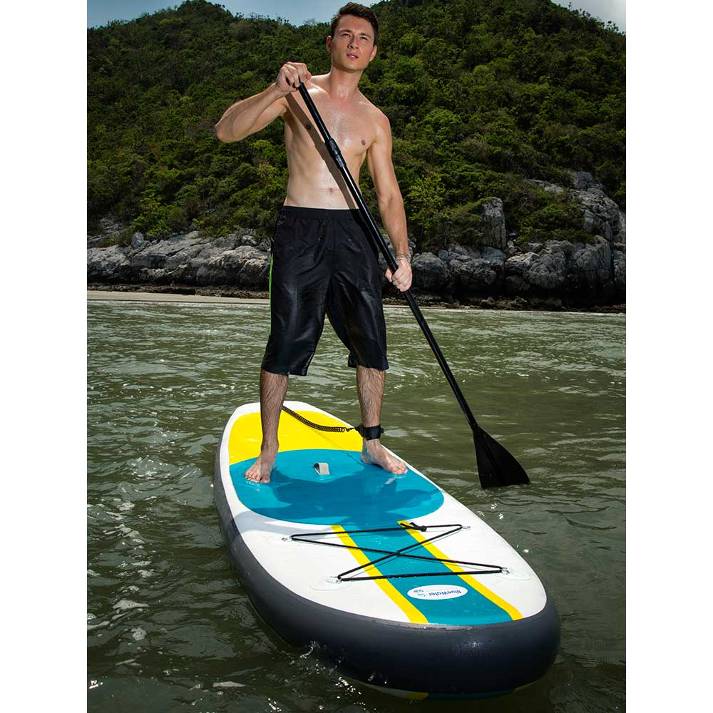 Blue Water Toys Wide Body Super Stable Inflatable Stand Up Paddle Board, 11ft x 34in x 6in - BW-SUP11346