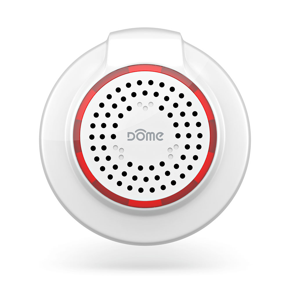 Dome Dms01 Z Wave Plus Battery Powered Security Siren Or