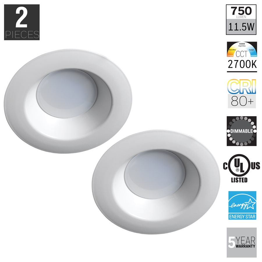 Honeywell FP0962 LED Non-Adjustable Down Light 2 Pack | Great Brands ...