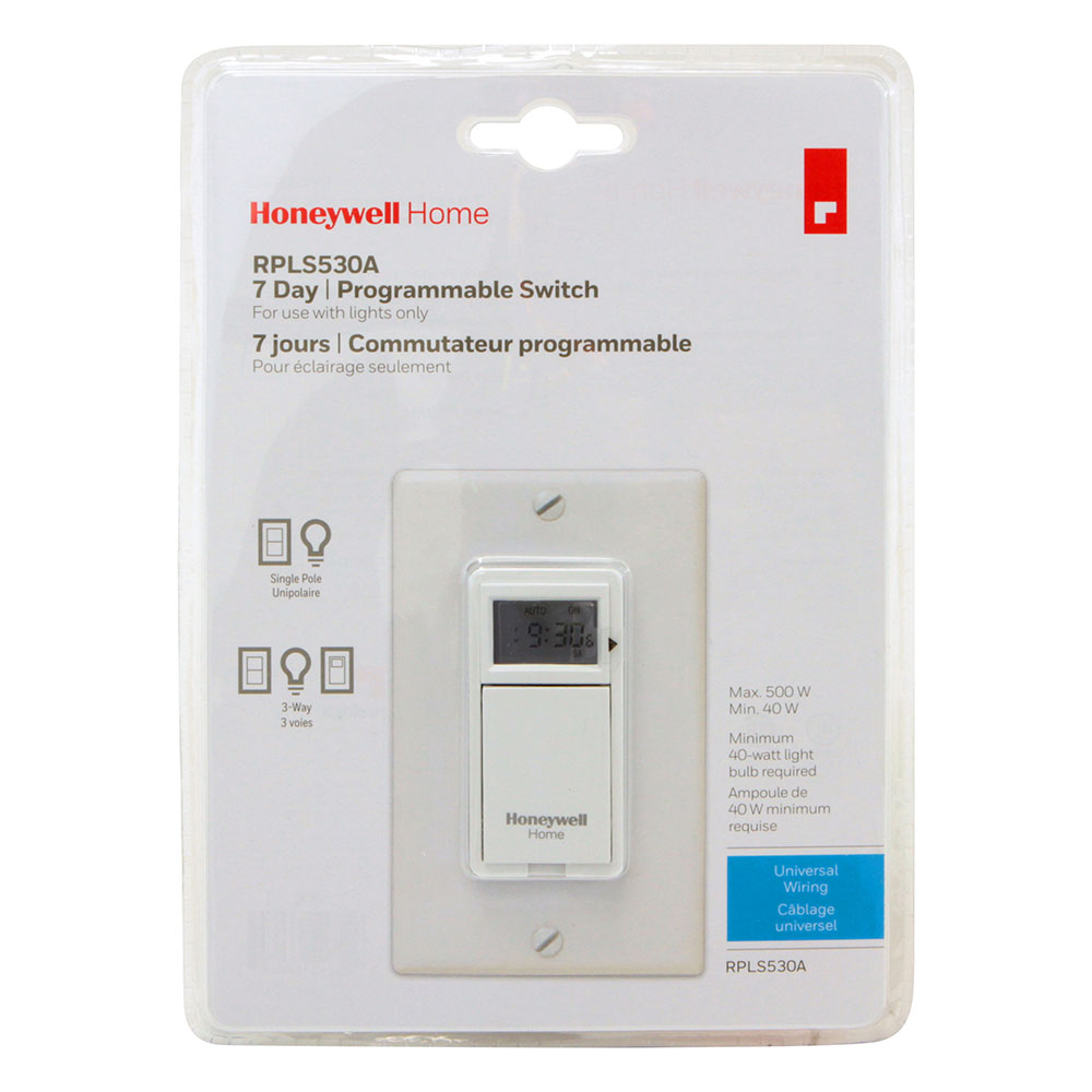 Honeywell programmable light switch timers automatic lights and 7 honeywell rpls530a1038u 7 day programmable light switch timer white aloadofball Images