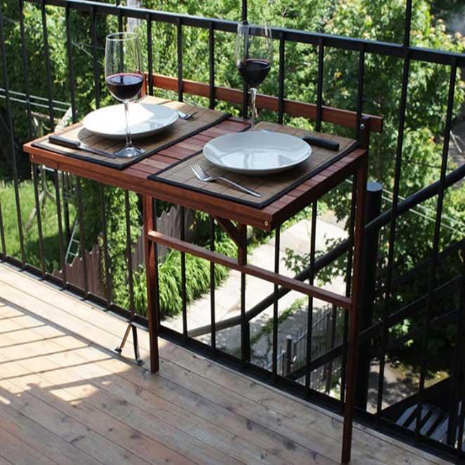 Patio Wise Condo & Balcony Folding Table Space Saver ...