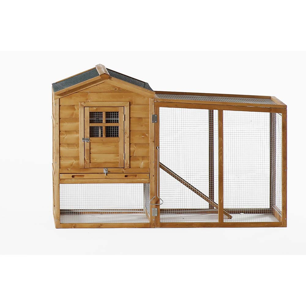 Patio Wise Modular Chicken Coop, Includes Roost & Mesh-Enclosed Outdoor Run - PWCC-009MH