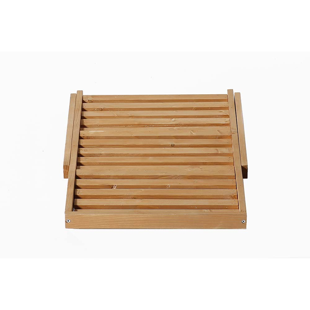 Patio Wise 3 Shelf Multi Purpose Folding Stand Space Saver, Fir Wood - PWFS-036
