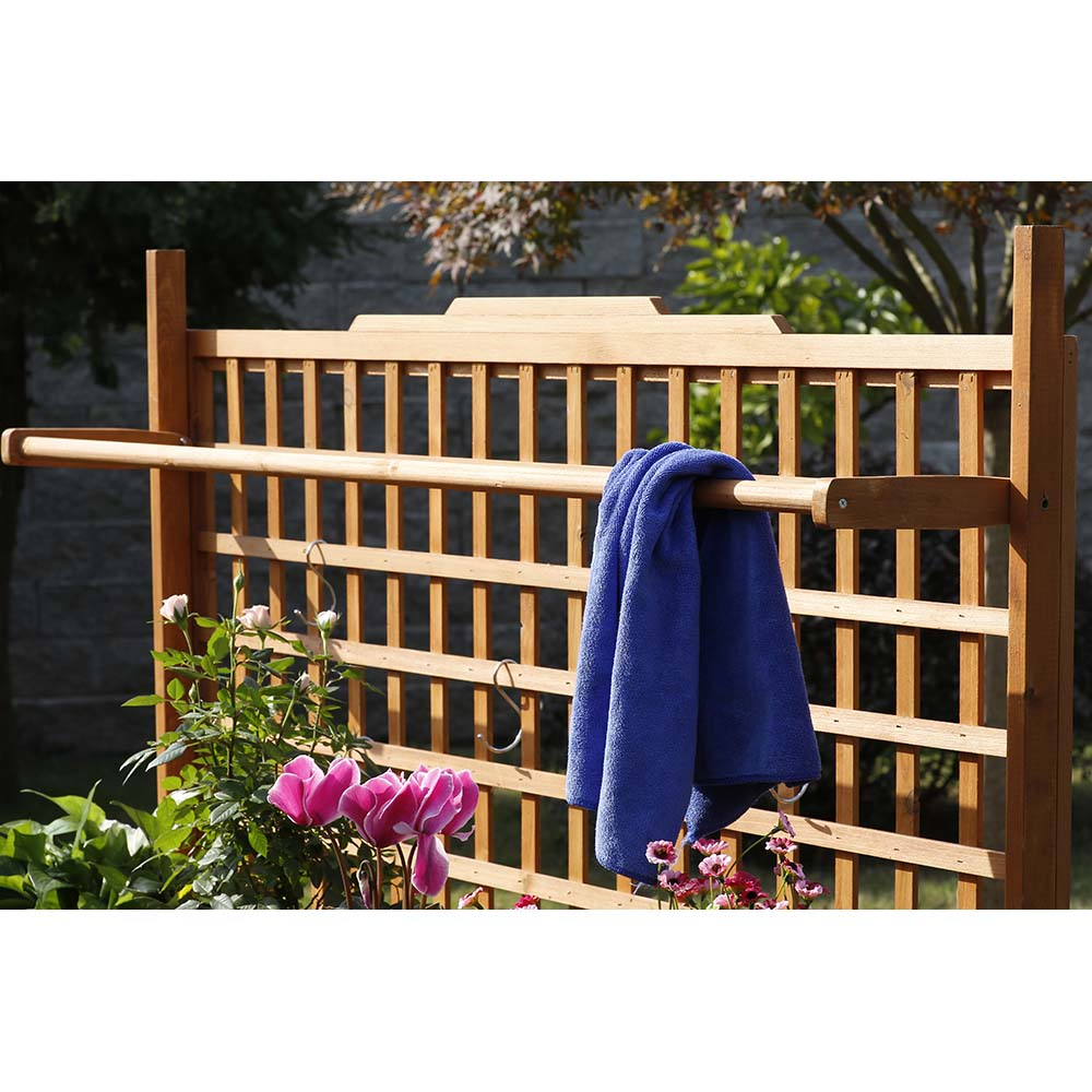 Patio Wise Folding Large Potting & Gardening Table With Storage Rack for Hanging Tools, Fir Wood - PWLPT-008