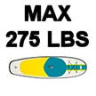 Blue Water Toys Inflatable Stand Up Paddle Board (SUP), 9.83ft x 32in x 6in - BWSUP-910326